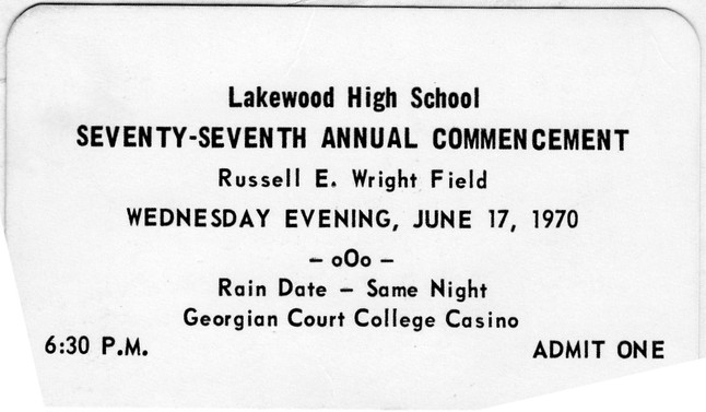 Commencement Admission Ticket